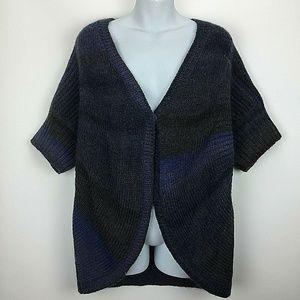 Chicos 2 Large Blue Cardigan Sweater Short Sleeve